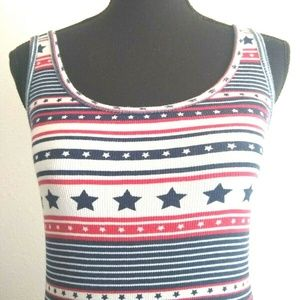 Faded Glory Tops - Faded Glory Patriotic Womens Tank Top